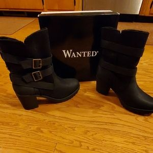 Wanted brand black boots